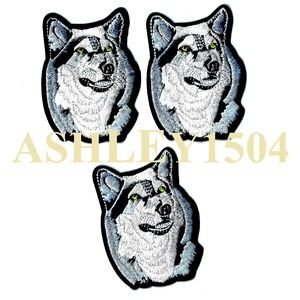 Other - NEW 3-PACK ANIMAL PATCHES WOLF IRON ON BADGES 3PCS